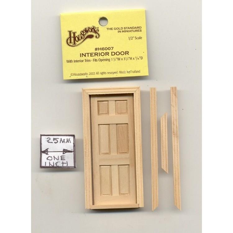 Half Scale Door Knob Brass Key Plate 1:24 Dollhouse H1114 6pcs Houseworks