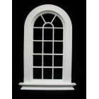 Window: Georgian 16 Pane Rounded Top Window Jacksons Miniatures 1/12 scale B21