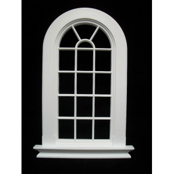 Window: Georgian 16 Pane Rounded Top Window Jacksons Miniatures 1/12 scale B21