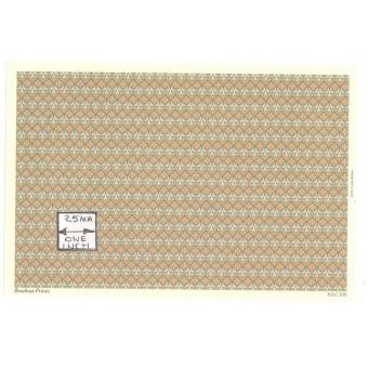 Brodnax Prints - Tapestry HAC106 wallpaper Half 1/24 G Scale 1pc dollhouse.