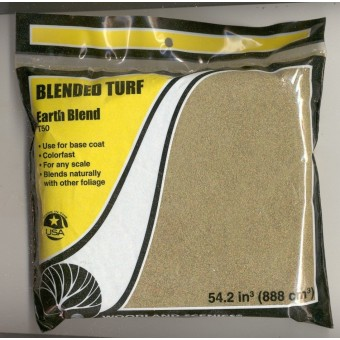 Foliage - Blended Turf T50 Earth Blend Base  model scenery 1/48 any scale 54cbin