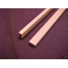 "Model Lumber 1/4x1/2 x24"" basswood scale supplies 2pcs"