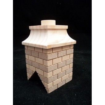 Chimney #8 brick miniature dollhouse wooden #2408 1pc 1/12 scale Houseworks