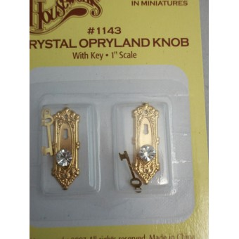 Crystal Opryland Knob 1/12 scale dollhouse 1143   2pc miniature  hardware