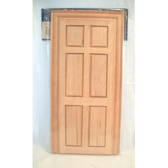 Fake Interior 6-Panel Door Fairy dollhouse false miniature 1/12 scale CLA70131