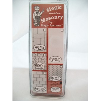 """Magic Masonry"" Brick SW503W  white 1sqft dollhouse miniature 1/12 scale"