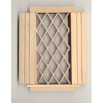 Window - Tudor Diamond - 2114S wooden dollhouse miniature 1:12 scale USA made