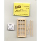 Half Scale Window - 12-Light - 1:24 Dollhouse wooden H5024 Houseworks G Scale