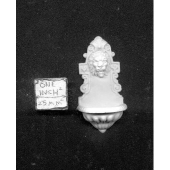 Statue - Wall Fountain -  UMST9 -  polyresin 1/12 scale dollhouse miniature