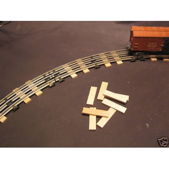 Rail Road Ties O-27 Gauge Train Track Scenery 60 pcs