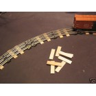 Rail Road Ties O Gauge Train Track Scenery 60 pcs