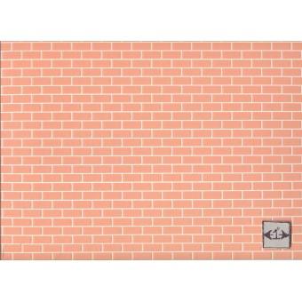 Embossed Brick Rose 34976 wallpaper World & Model dollhouse 1pc 1/12 scale