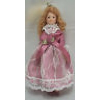 "Porcelain 4"" Doll - Victorian Girl / Child G7656  1/12 scale bendable miniature"