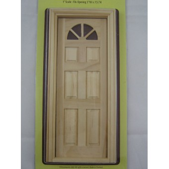 "Door -Carolina Dollhouse miniature 1"" scale wood #6023 Houseworks exterior 1/12"