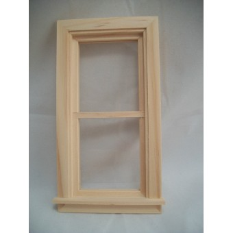 "Window 2-9/15x5-1/16"" Traditional non-working dollhouse 1:12 scale wood.5032"