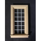 "Economy Window 2-1/2 x 5"" dollhouse miniature 1:12 scale wood.5034"