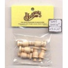 Urn Finals post tops - Spindles 7016 dollhouse wooden miniature 6pc 1/12 scale