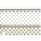 Tile Wall Sheet 34486w  dollhouse miniature World & Model 1pc heavy card stock