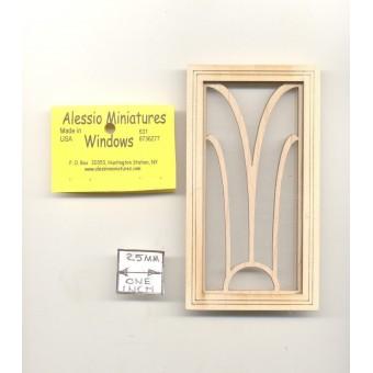 Window - Art Deco - 2123 wooden dollhouse miniature 1:12 scale 1pc USA made