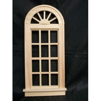 Oversized Church Window.  miniature dollhouse 95014 1/12 scale wooden