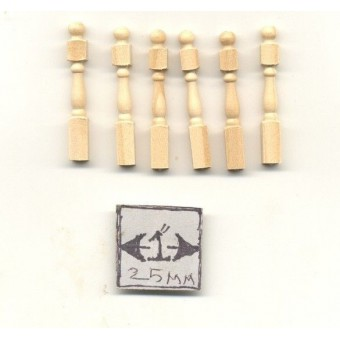 Half Scale - Newel Post Dollhouse wood miniature H7012 6pcs  Houseworks