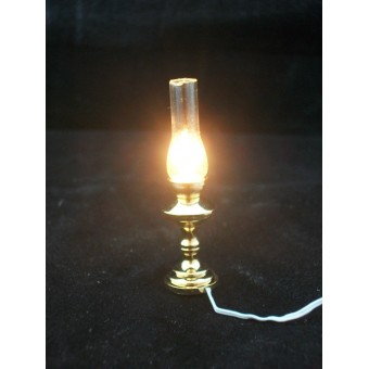 Light - Brass Oil Lamp 2517 dollhouse miniature 1/12 scale electric 1pc