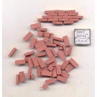 Bricks - Red -  plaster solid color exterior miniature  325pcs 1/12 scale AM0210