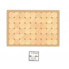 Half Scale - Faux Parquet Floor Sheet 1/24 Scale 24034 dollhouse World & Model