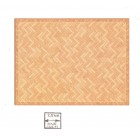 Half Scale - Faux Parquet Floor Sheet 1/24 Scale 24031 dollhouse World & Model