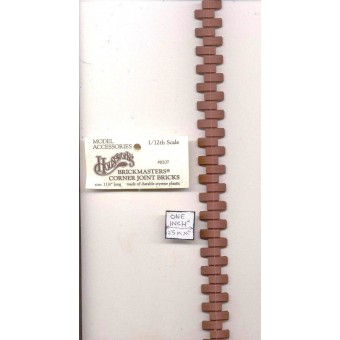 Brick Corner - matches sheet - 1:12 Scale  miniature Dollhouse  8207 Houseworks