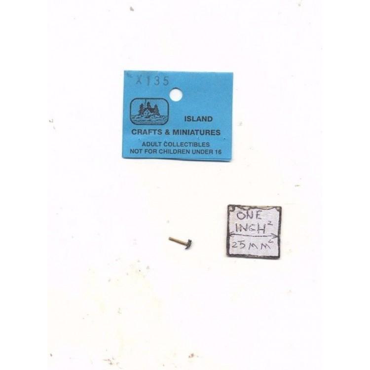 Half scale 1//24 Claw Hammer dollhouse miniature tool ISLX135