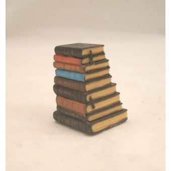 """Stack of Books - Resin -  4063  dollhouse miniature 1/12"""" scale Houseworks"""