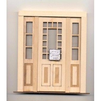 Door - Craftsman w/ Side Lights - 2319SL dollhouse miniature 1:12 scale USA Made