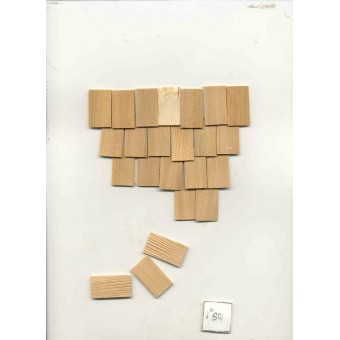Northern White Cedar Shingles 375pcs  Dollhouse miniature roofing 1/12 scale 64A