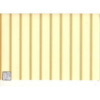 """""""Um - Gold Stripe"""" wallpaper Jackson's Miniatures dollhouse JM05A 1/12 scale"""