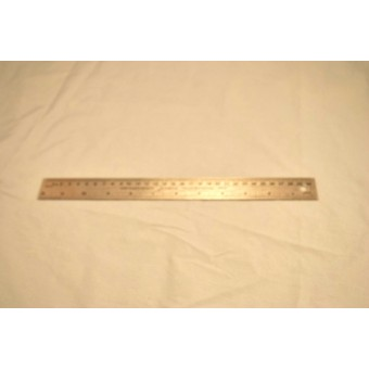 "Steel 12"" flexible Ruler cork backed #97303 - measuring tool - inches & metric"