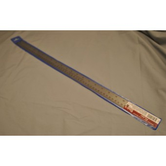 """Steel 24"""" flexible Ruler cork backed #97305 - measuring tool - inches & metric"""