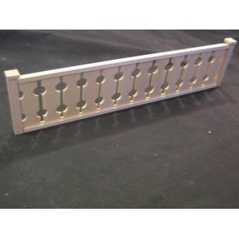 "Railing Kit #3 Craftsman porch dollhouse trim 12""long 1/12 scale MW12083"