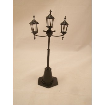 3 lamp Yard / Street Light non-working EIWF510 dollhouse miniature 1/12 scale