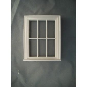 Half Scale 1:24 - Victorian 6 Pane  Window - Jackson's Miniatures Dollhouse #L10