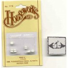 Knob - White Enamel 1/12 scale dollhouse miniature hardware  1115 Houseworks 6pc