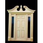Deerfield Door w/ Sidelights  dollhouse miniature #6028