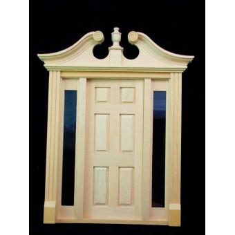 Deerfield Door w/ Sidelights  dollhouse miniature #6028