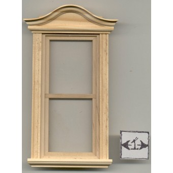 Bonnet Pediment Non-working Window 1/12 scale miniature Houseworks 5060