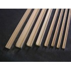 "Groove Edge Molding 1/8"" - dollhouse - Channel molding fits .125"" 2pc Basswood"