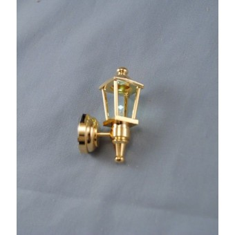 Light - LED Brass Coach Lamp 2306 dollhouse 1/12 scale replacable battery metal