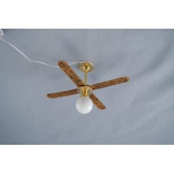 Light - Ceiling Lamp w/ Fan 2630 dollhouse miniature 1/12 scale electric 12volt