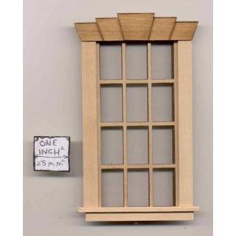 Window - 5-Key 6/6 - 405k5 wooden dollhouse miniature 1:12 scale USA made