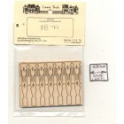 Victorian Porch Flat Balusters PB411 wood dollhouse miniature  1/12 scale 14pcs