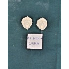 Applique - Lion's Head 2p -  UMA29 -  polyresin 1/12 scale dollhouse miniature